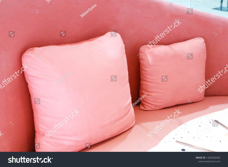 Beautiful Pink Sofa Restaurant Stock Photo Edit Now 1282360420