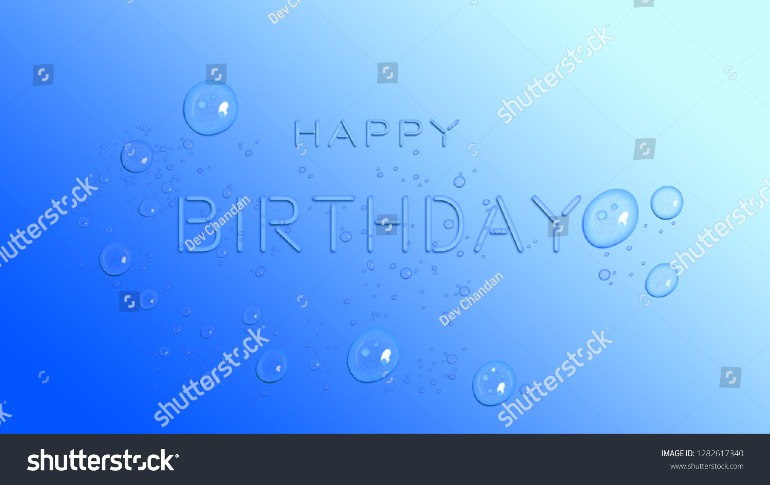 Happy Birthday Background Water Drop Effects Stock