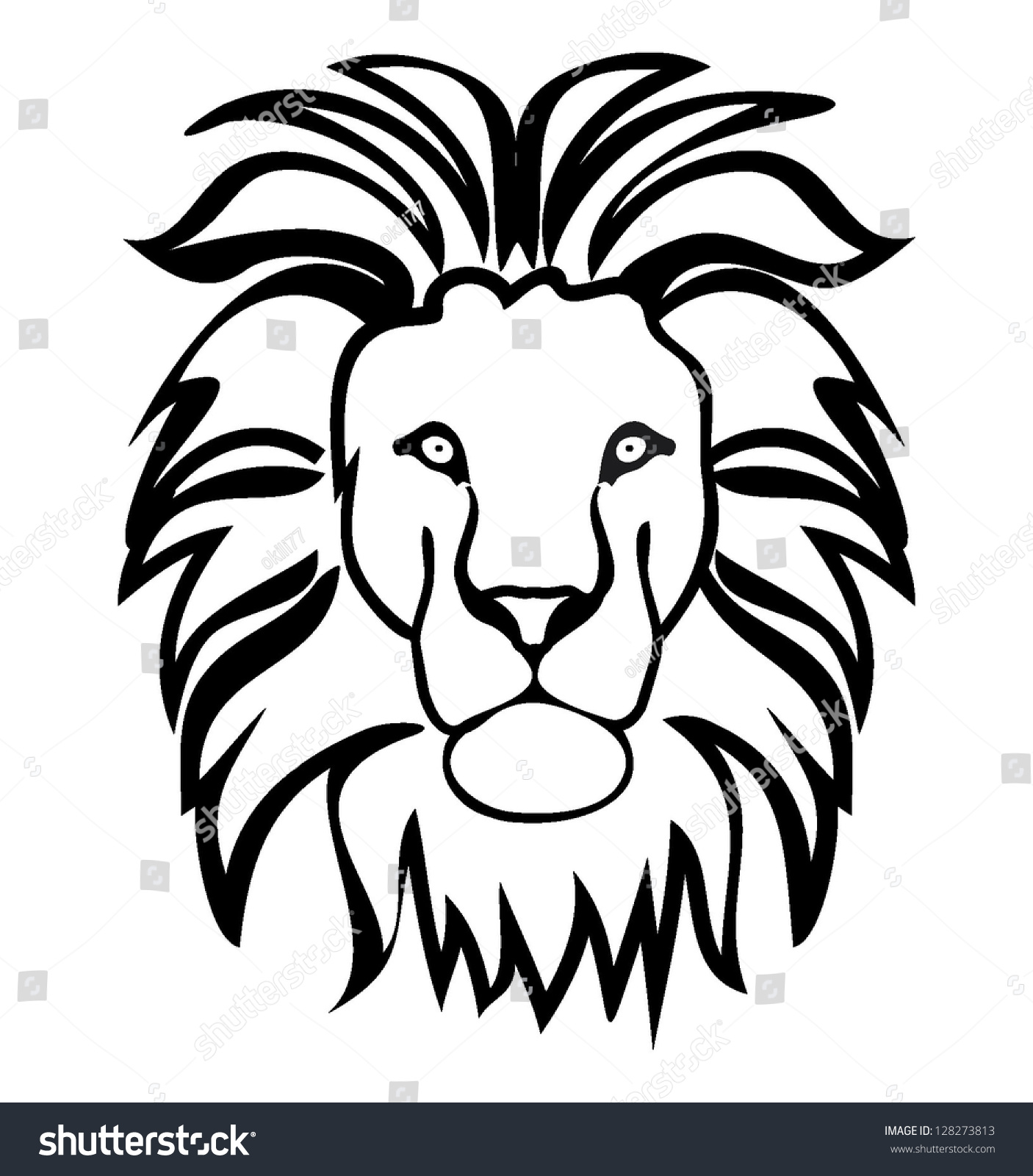 Lion symbol outline stock vector 128273813 shutterstock lion symbol outline biocorpaavc Gallery