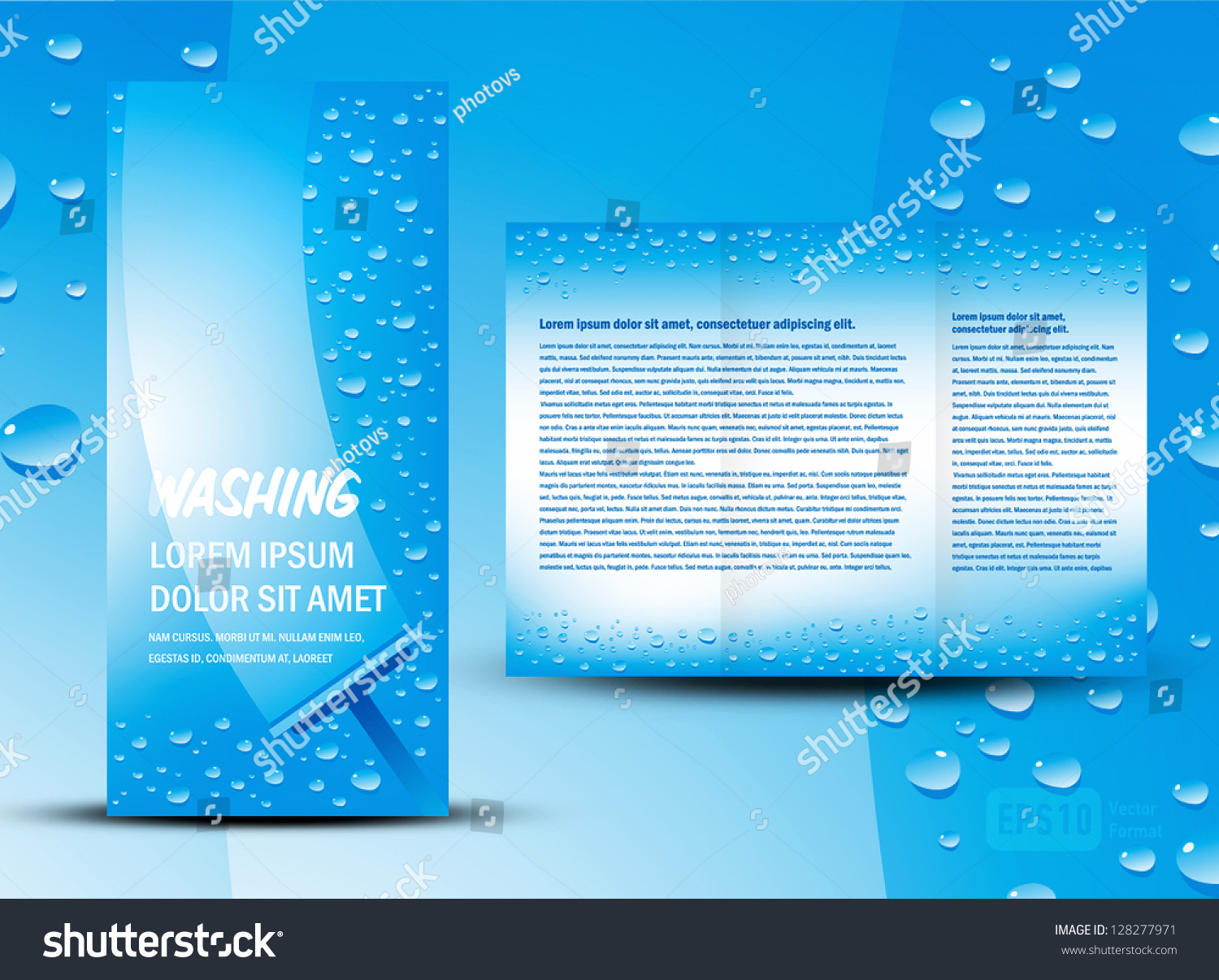 brochure folder washing cleaning design cmyk stock vector brochure folder washing cleaning design cmyk no transparent