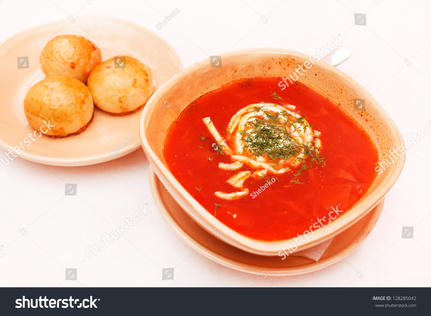 Borscht - Beet Soup Stock Photo 128285042 : Shutterstock