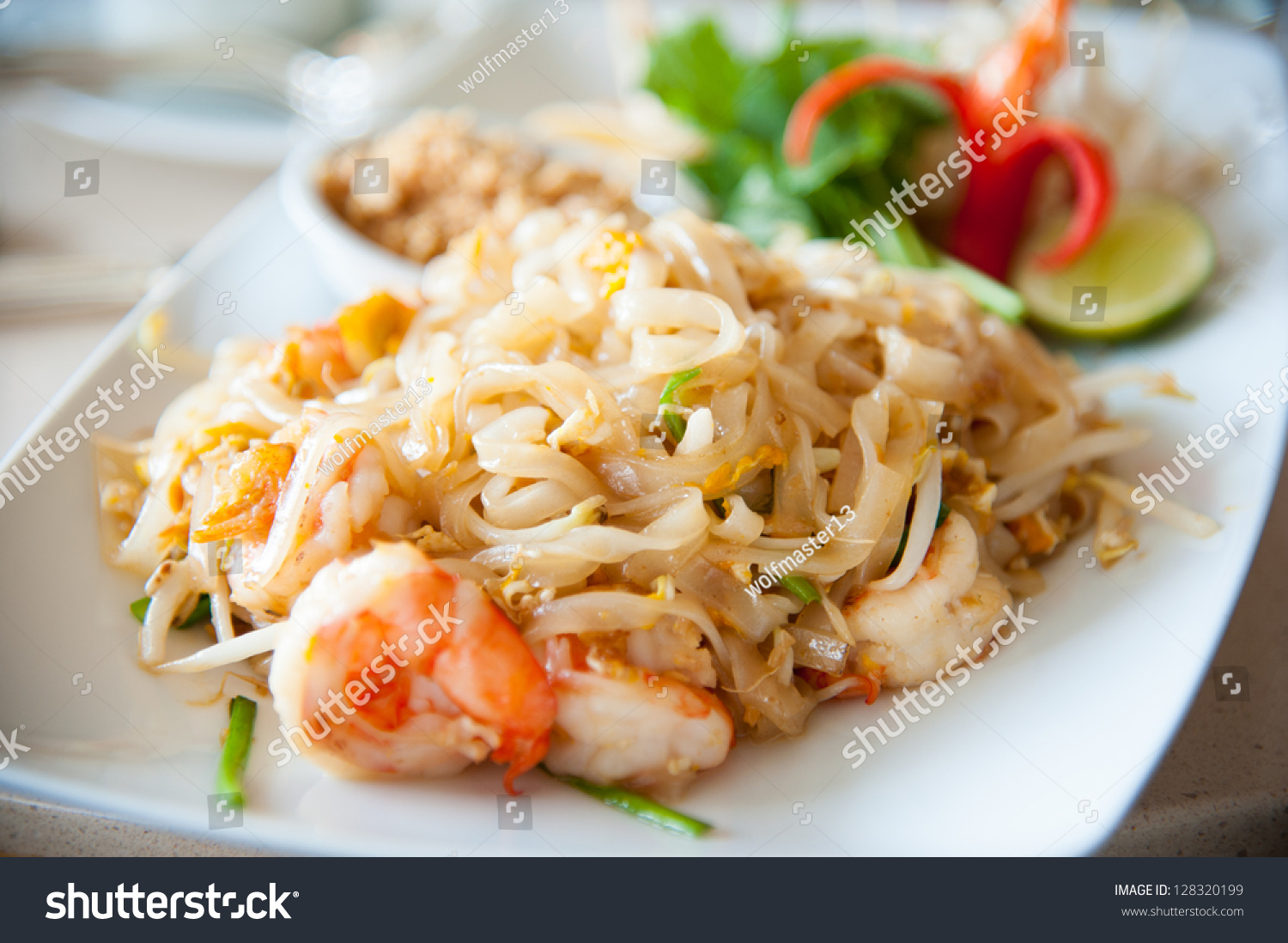 Thailand'S National Dishes, Stir-Fried Rice Noodles With ...