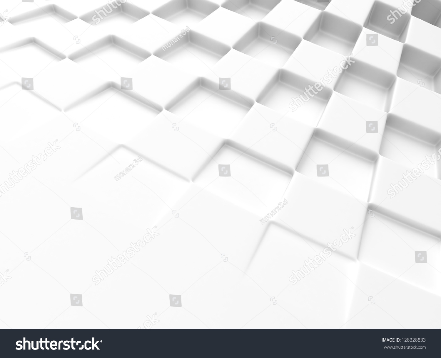 Elegant White Background With Chess Pattern And Space For