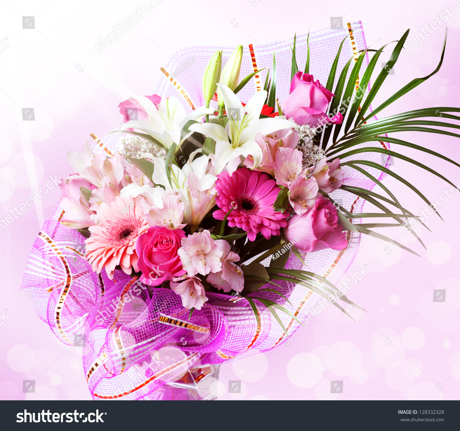 Gentle Pink White Spring Flowers Bouquet Stock Photo Edit Now