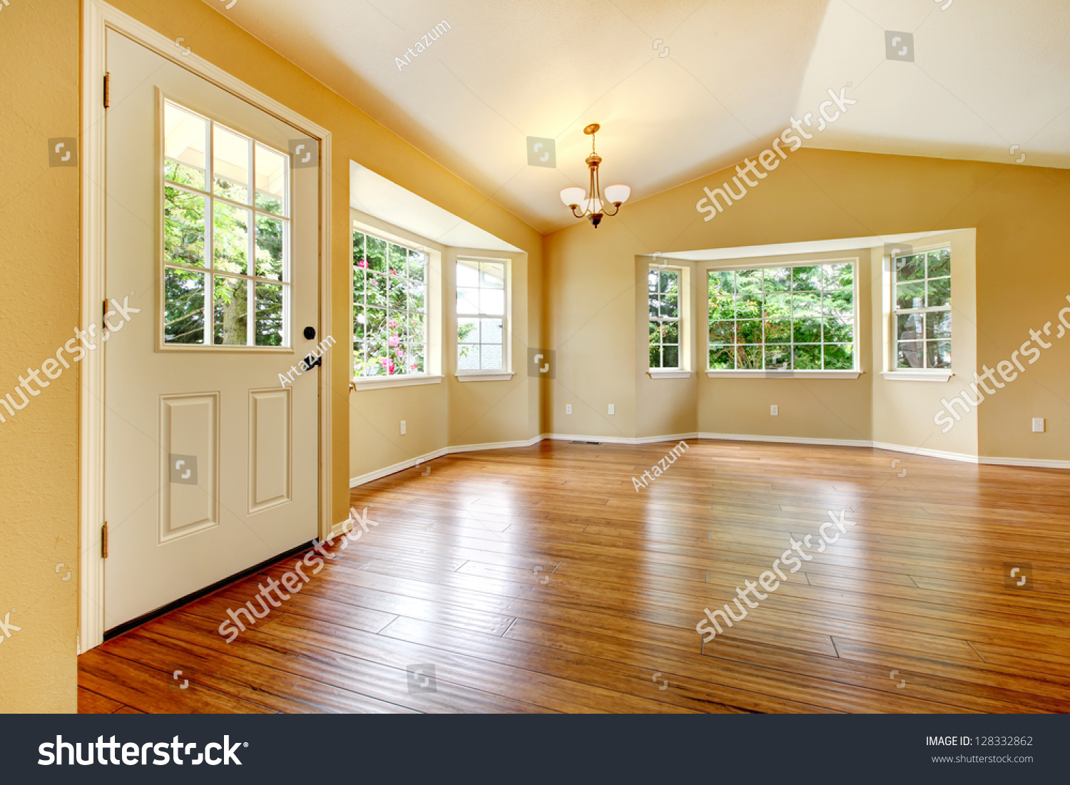 Newly Remodeled Living Room With Wood Floor Preview Save To A Lightbox