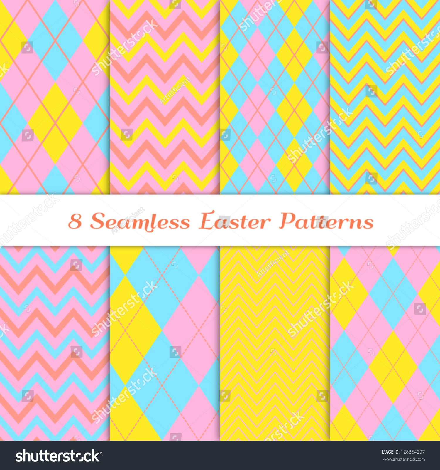 Yellow chevron background