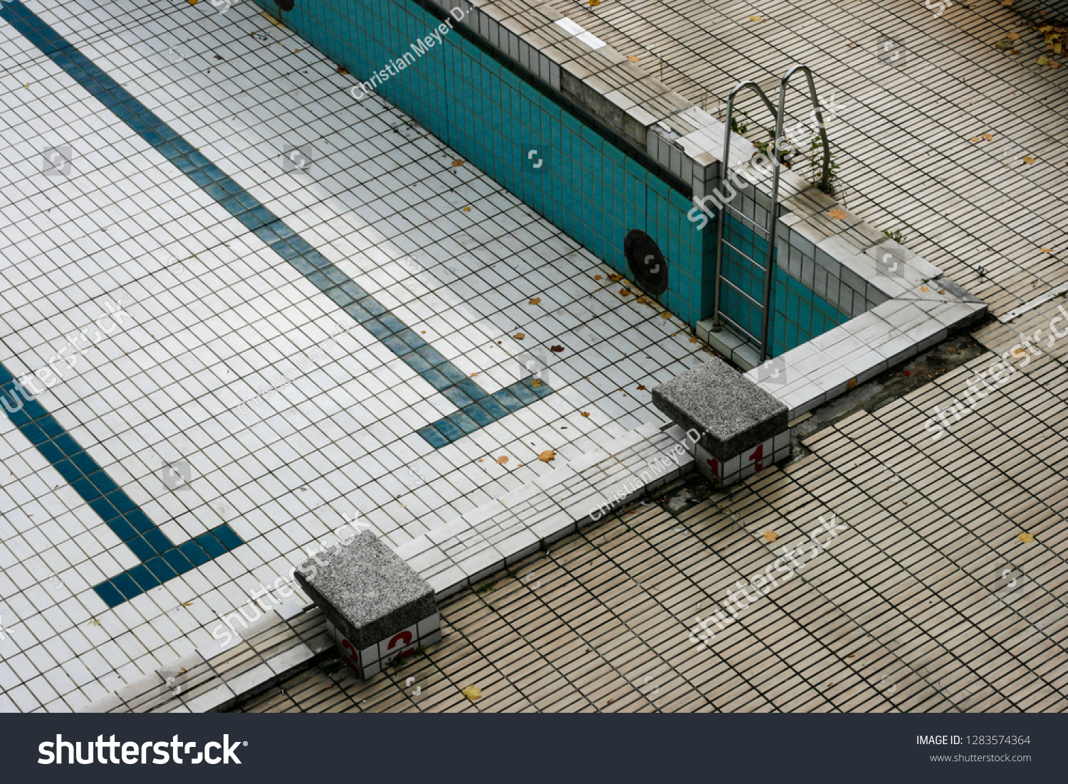 Abandoned Empty Swimming Pool Stock Photo Edit Now 1283574364