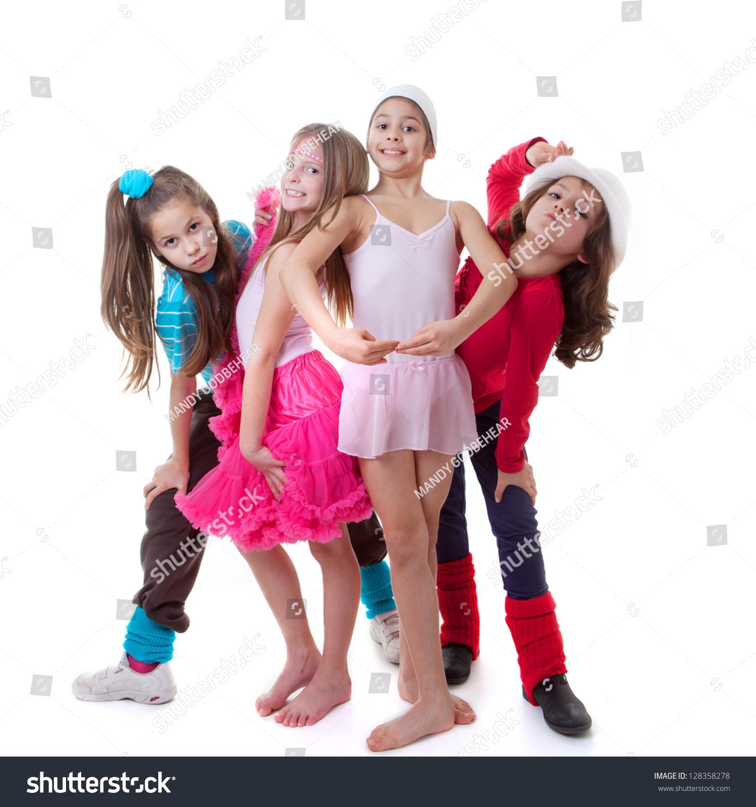 kids dance school ballet hiphop streetfunky stock photo