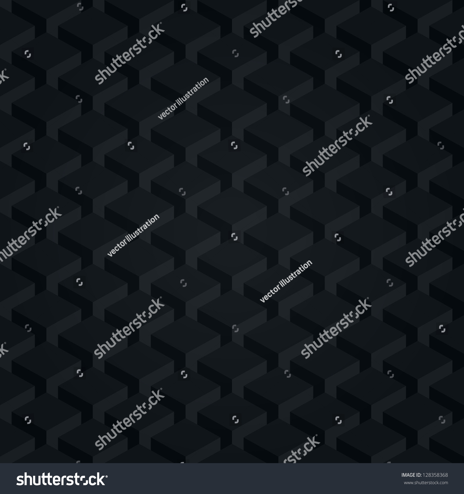Seamless Pattern Black Background Dark Surface 128358368