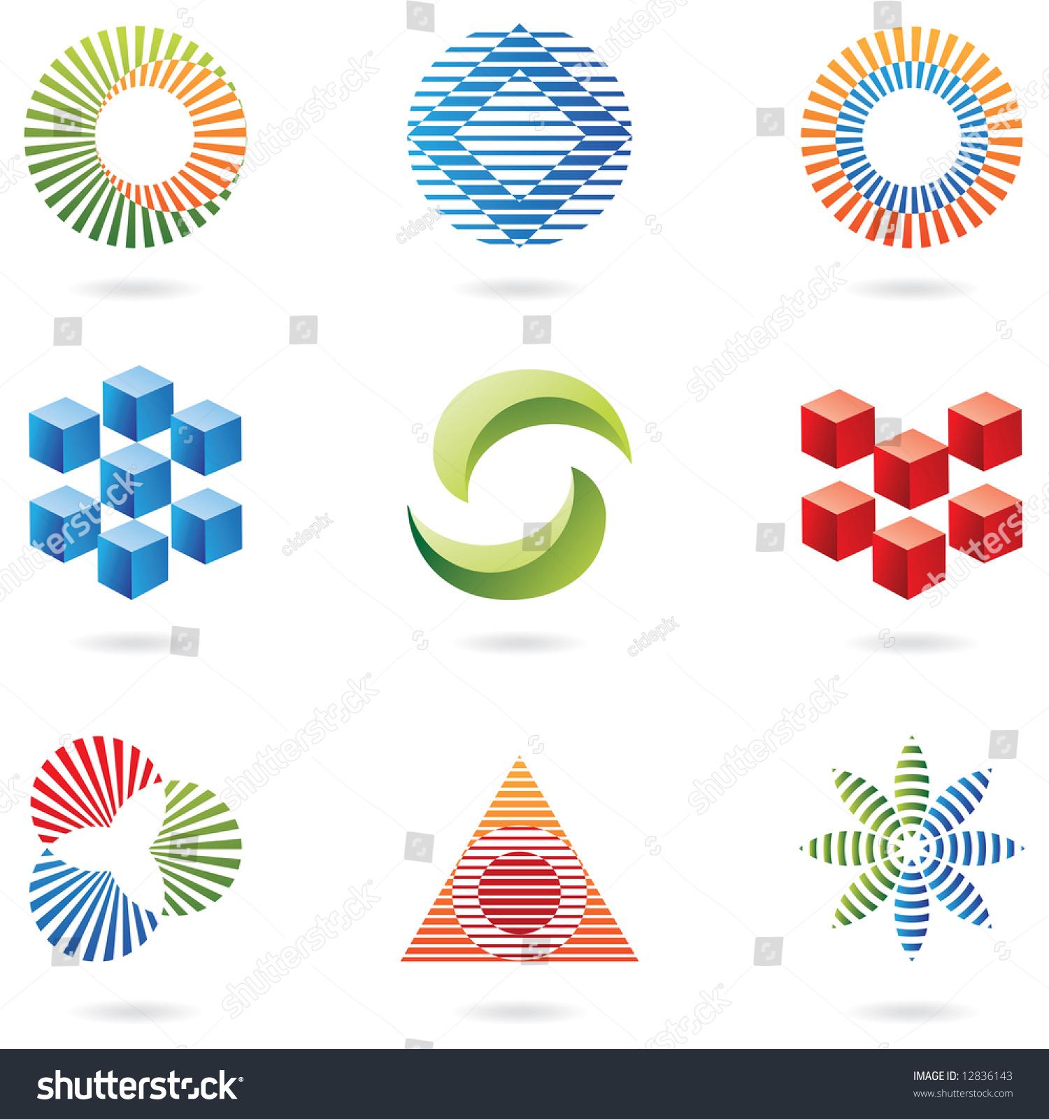 Graphic Design Elements Line : Logo shapes graphic design elements lines stock vector