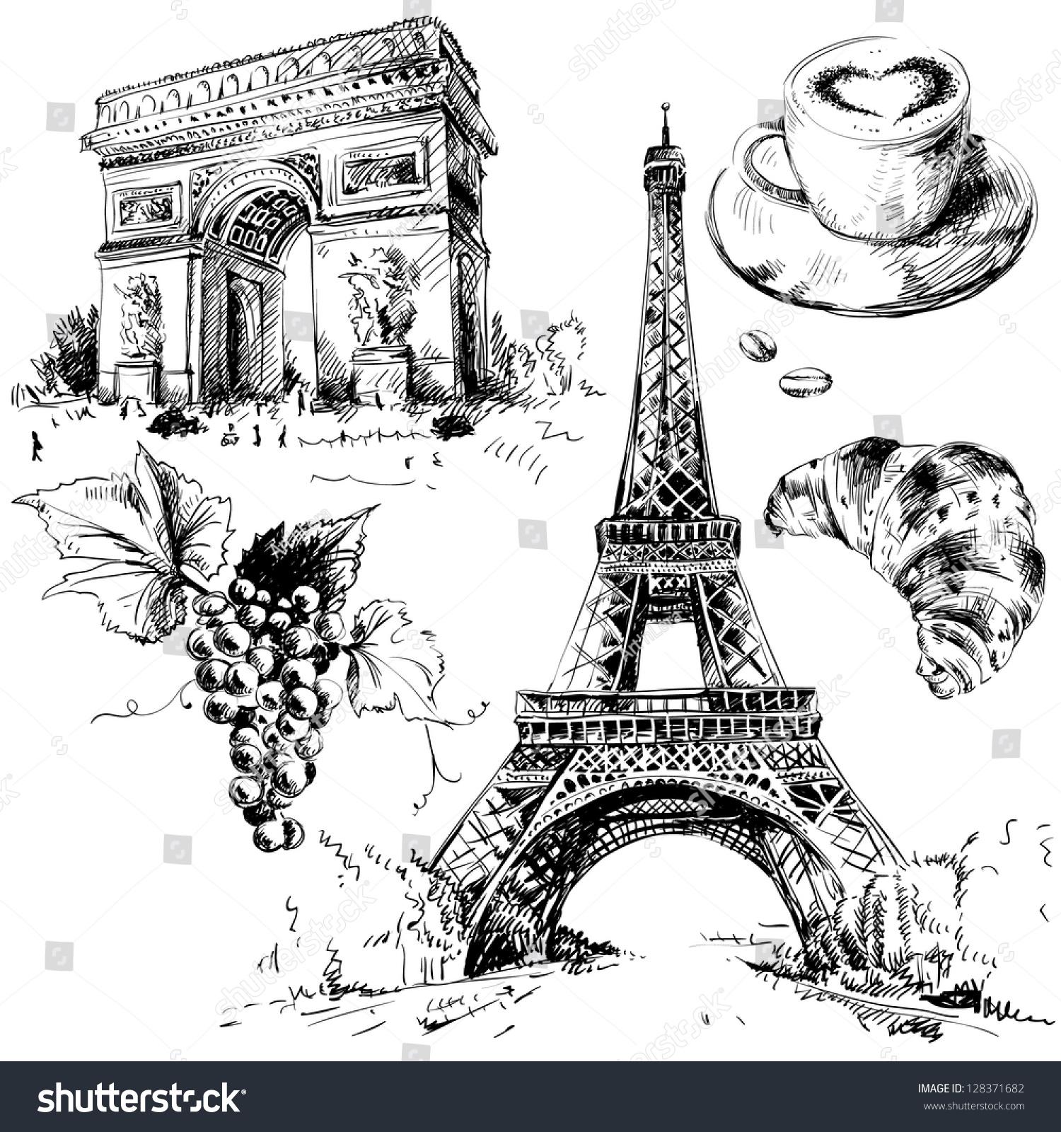 Paris Illustration: 128371682 : Shutterstock