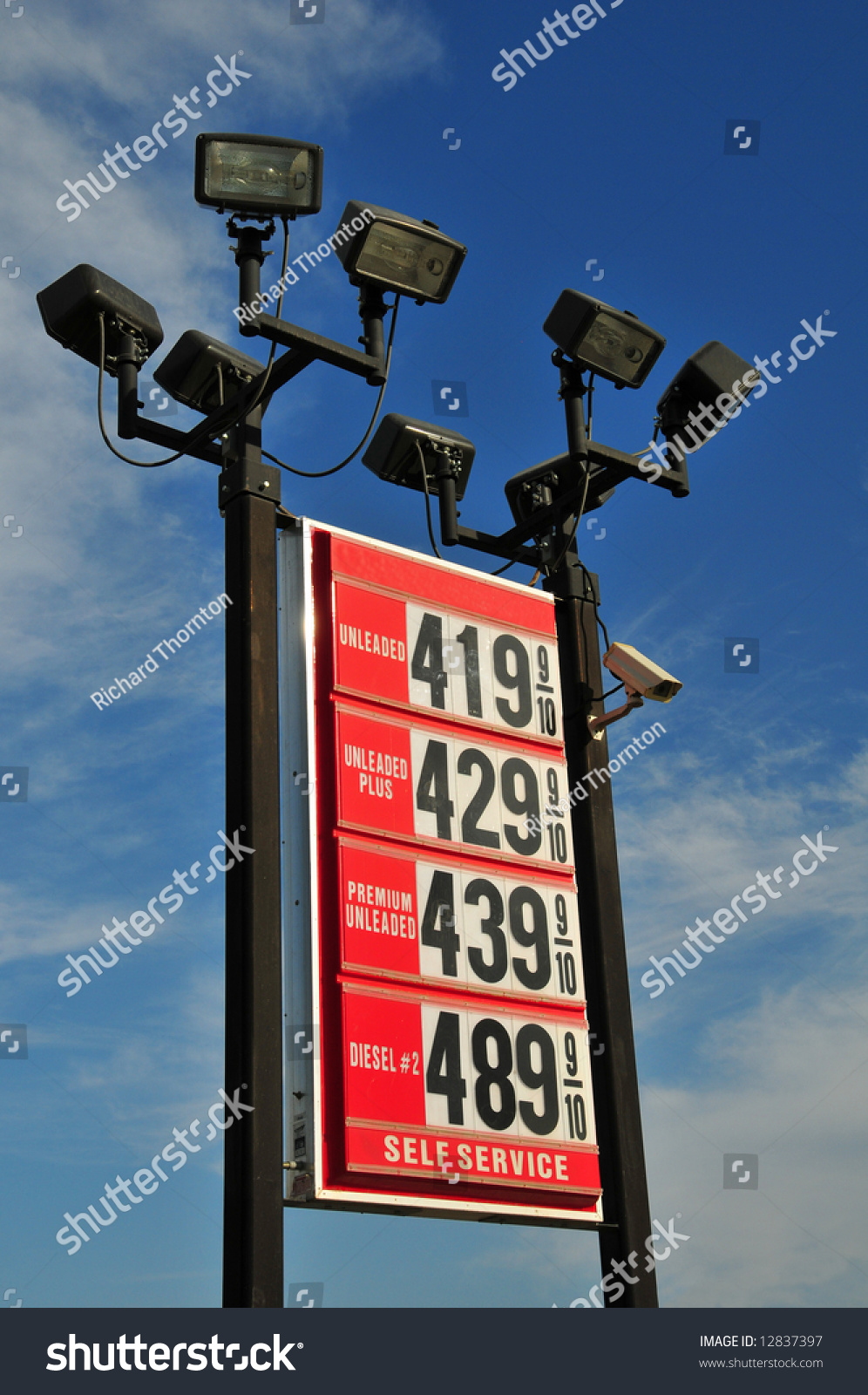 Thorntons Gas Prices >> Rising Fuel Prices Reflected This Service Stock Image
