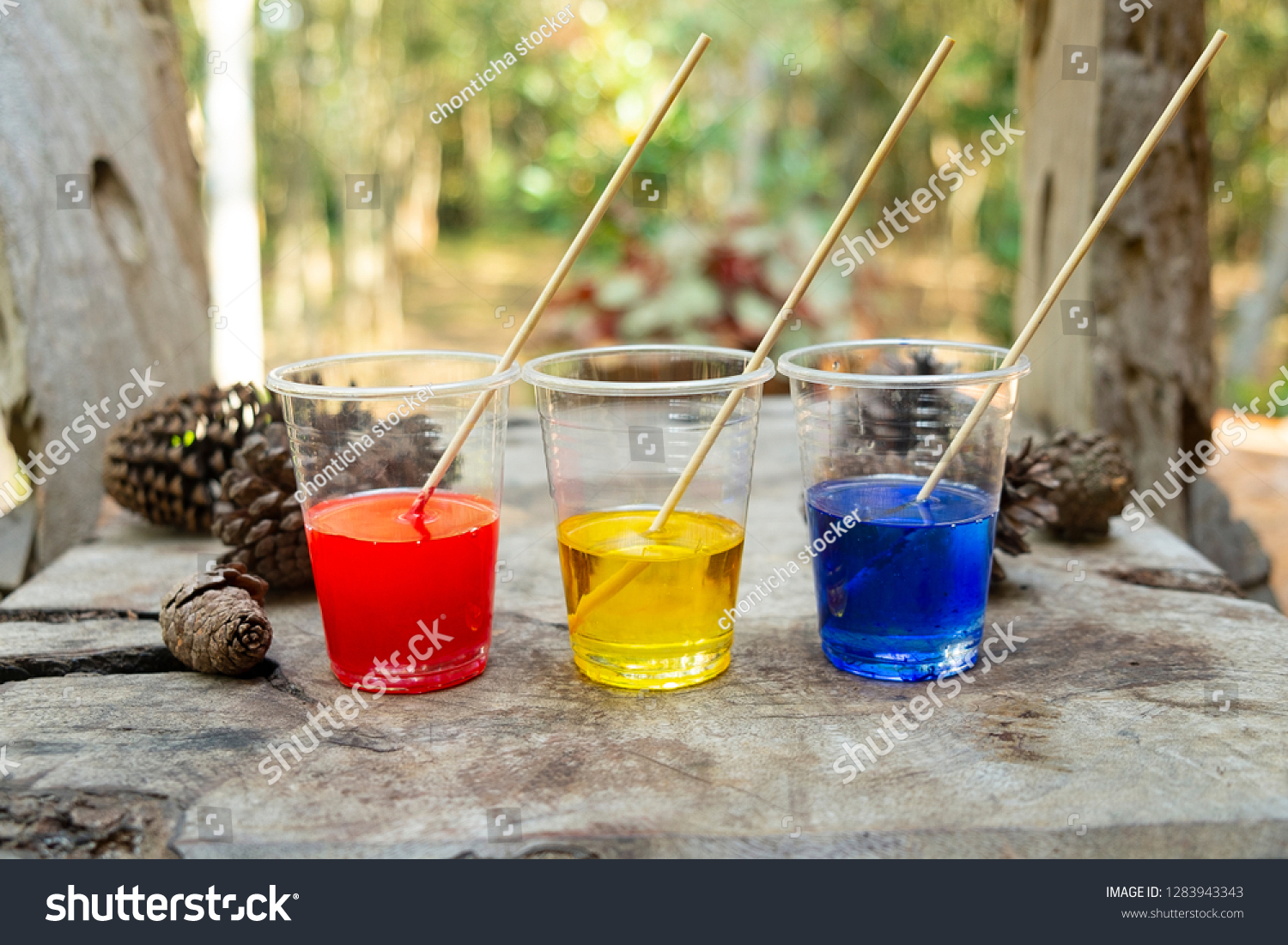Epoxy Resin Red Yellow Blue Color Stock Photo (Edit Now) 1283943343