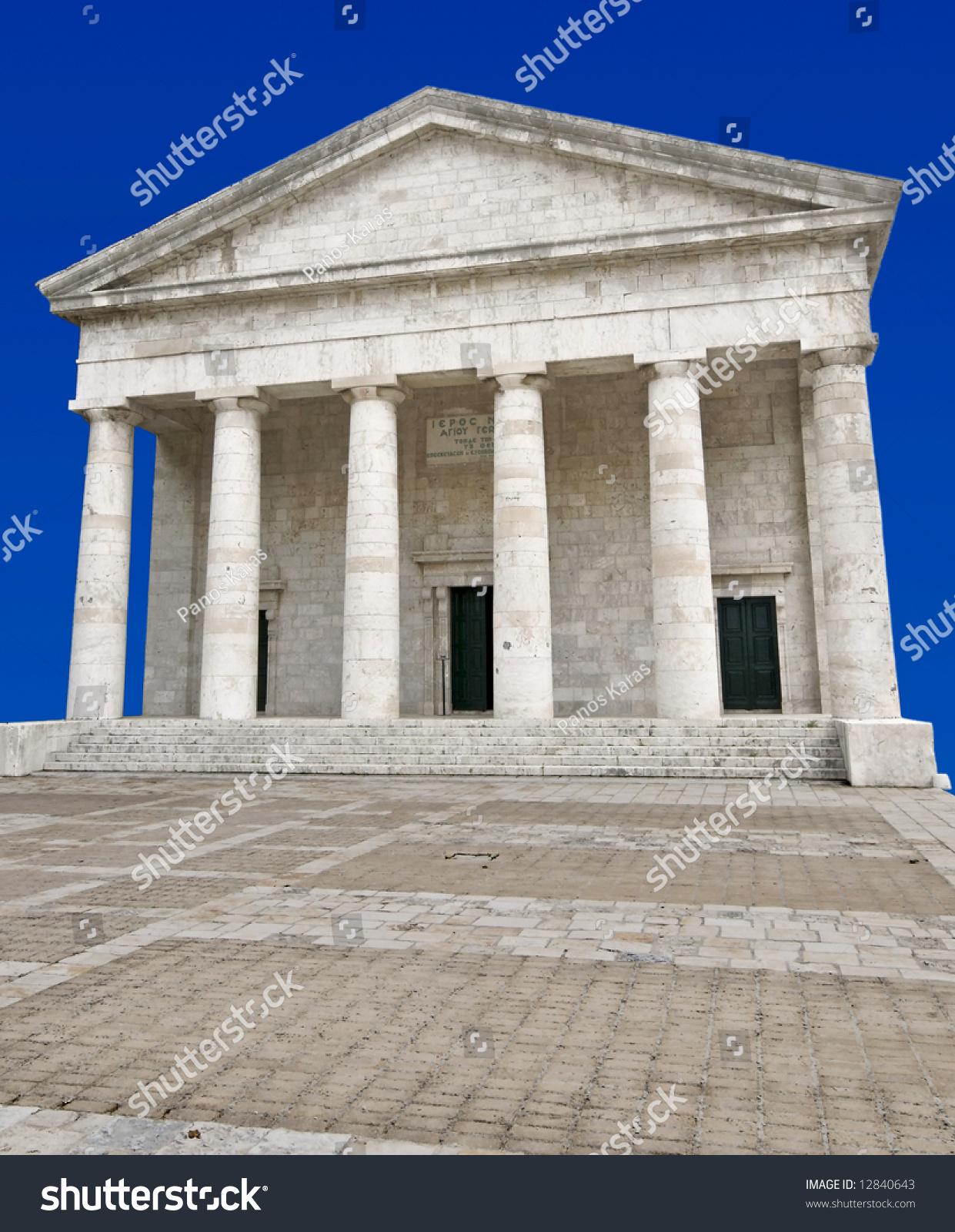 Ancient Alike Modern Greek Temple Corfu Stock Photo 12840643 ...