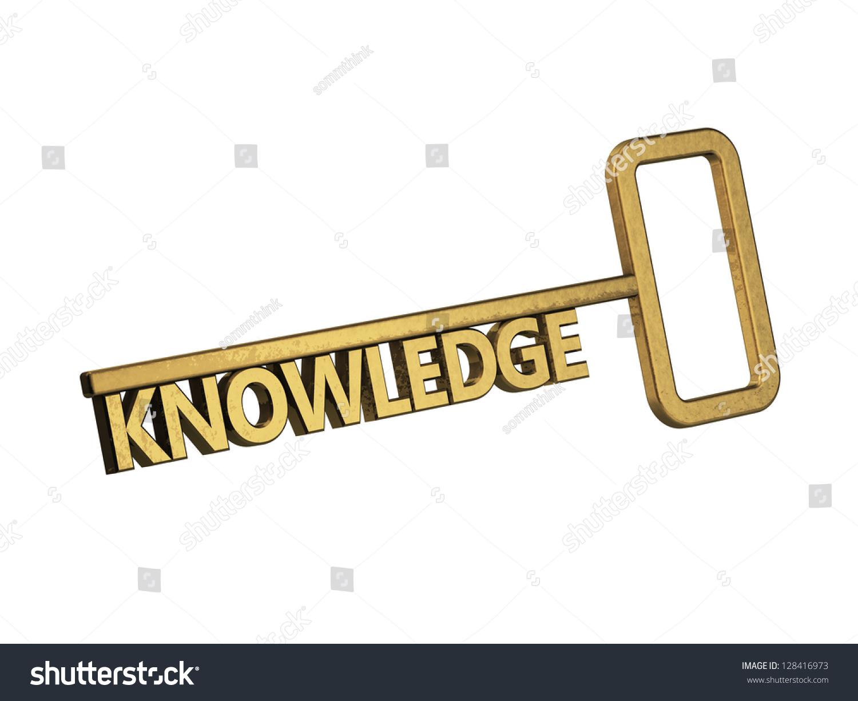 golden key word knowledge on white stock illustration 128416973 golden key word knowledge on a white background