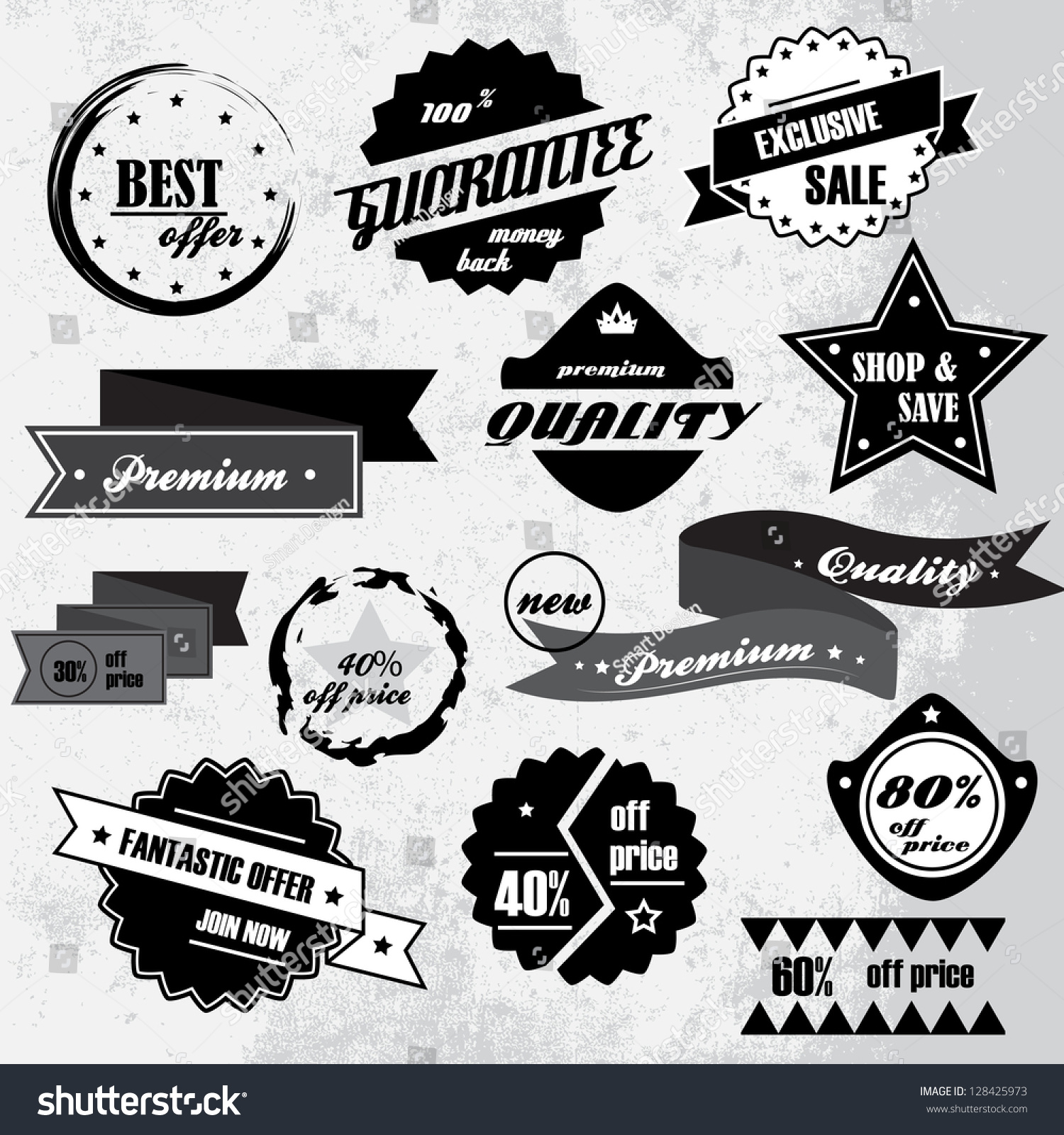 Vintage design elements labels retro vintage stock vector - Retro vintage ...