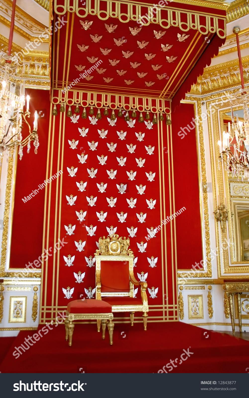 throne polish king royal castle warsaw stock photo 12843877