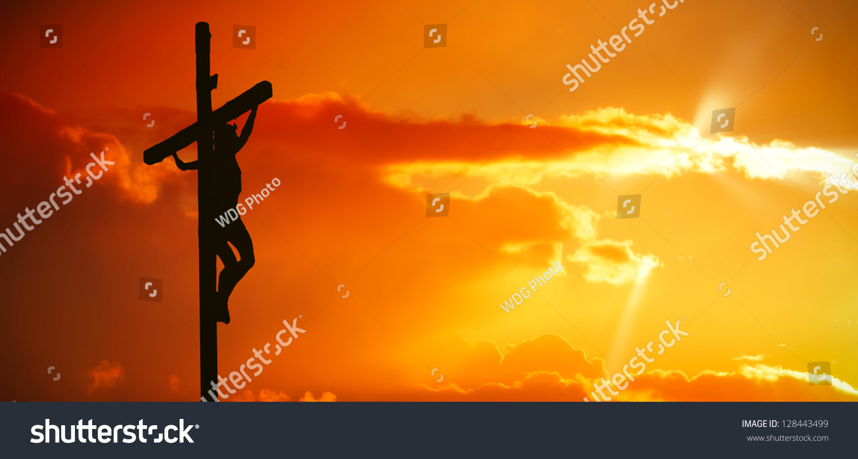 jesus christ on cross stock photo 128443499 shutterstock