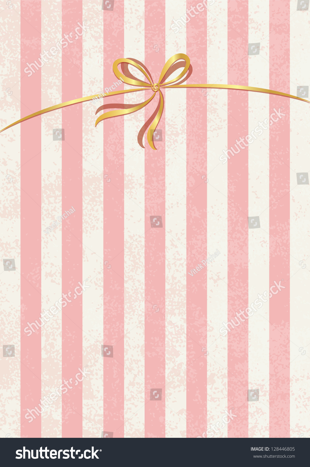 Vector Sweet Stripped Background White Pink Stock Vector Royalty