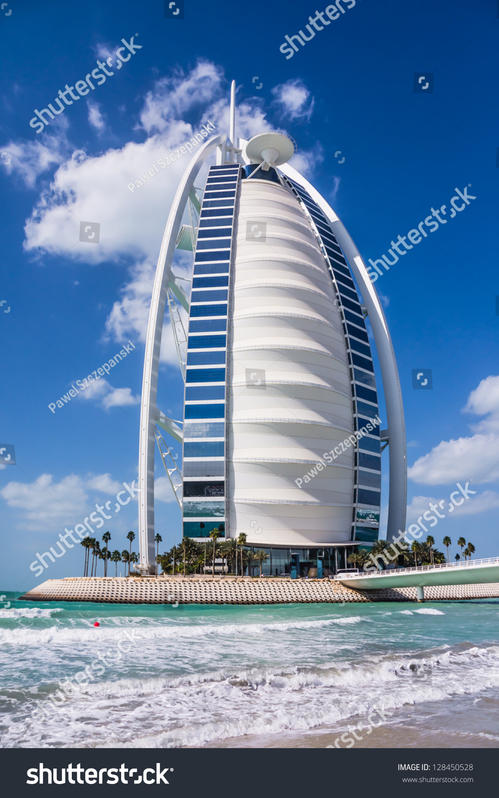 Dubai uae february 03 burj al arab considered the for Burj al arab the most luxurious hotel
