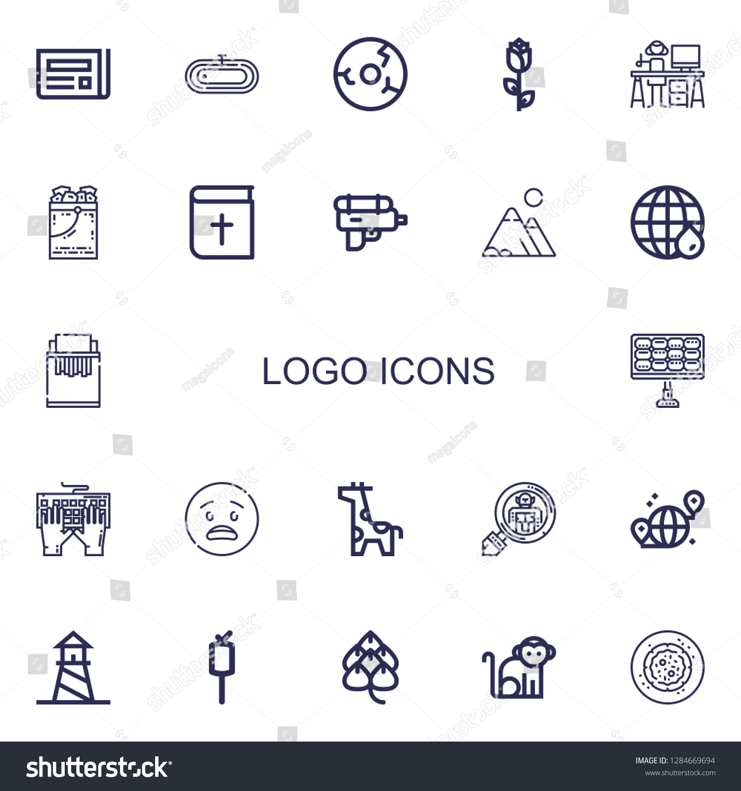 Editable 22 Logo Icons Web Mobile Stock Vector (Royalty Free