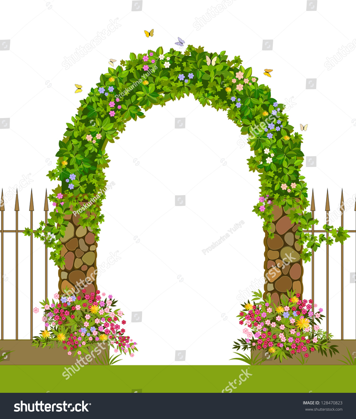 garden gate clipart - photo #19
