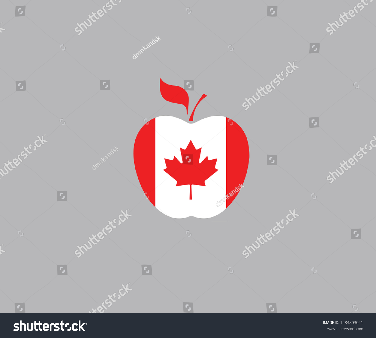Canada National Flag Apple Symbol Decoration Stock Vector (Royalty