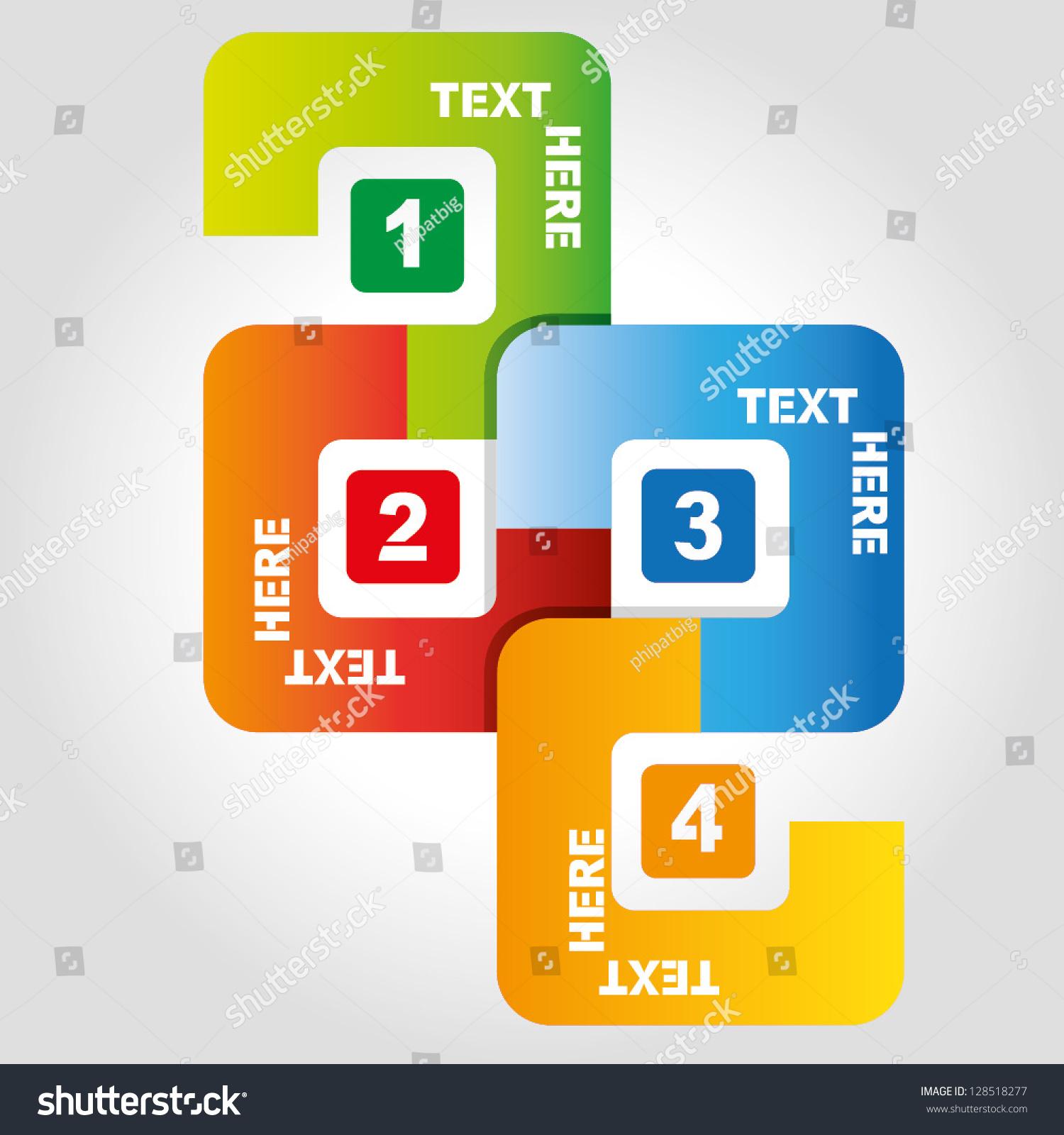 4 squares sequence diagram, business process flow presentation