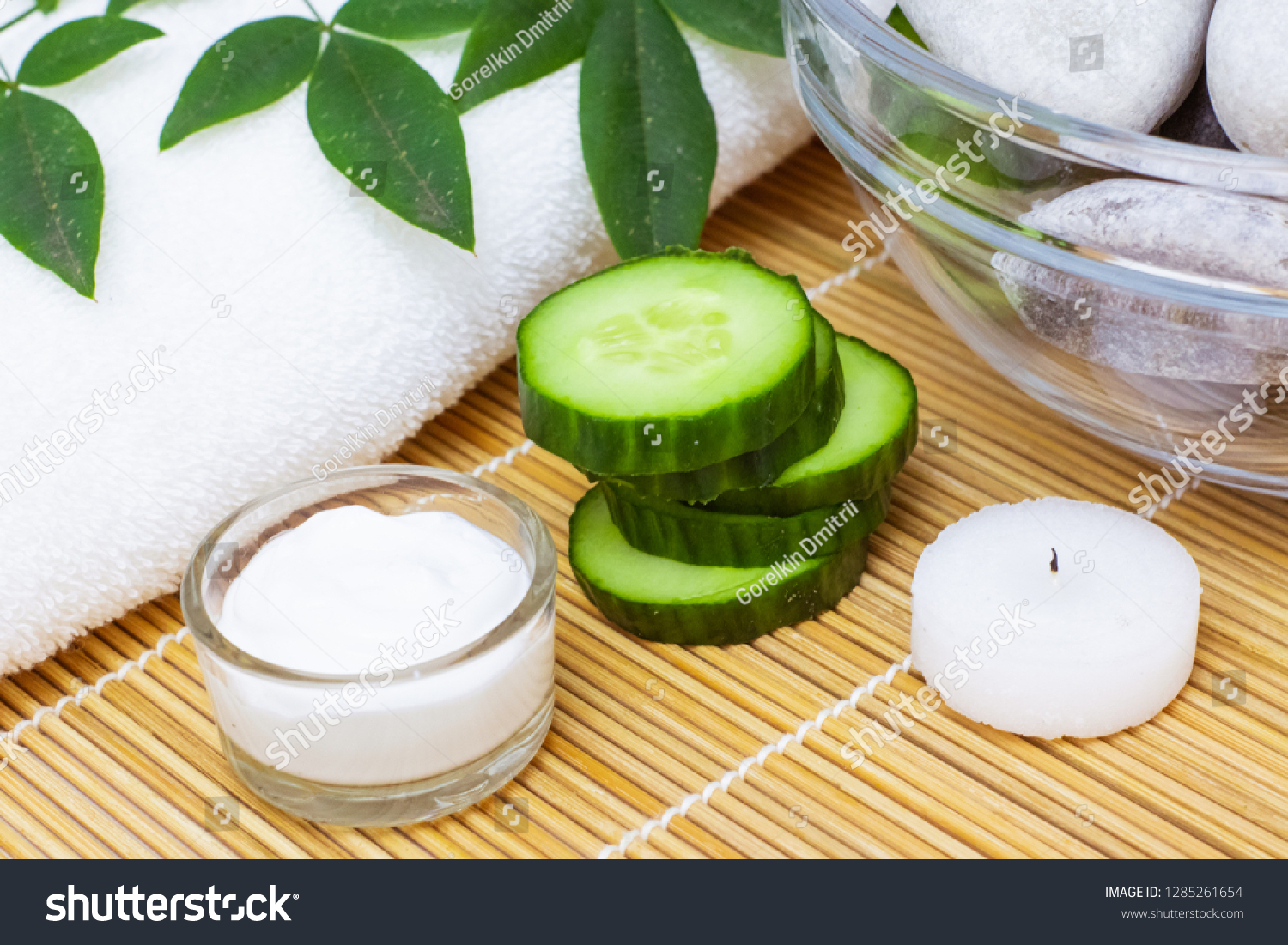 Natural Skin Care Products View Ingredients Stock Photo (Edit Now