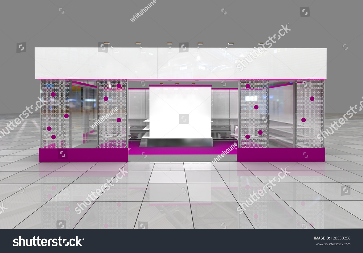 Modern Exhibition Stand Design : Modern exhibition stand design with blank frieze stock