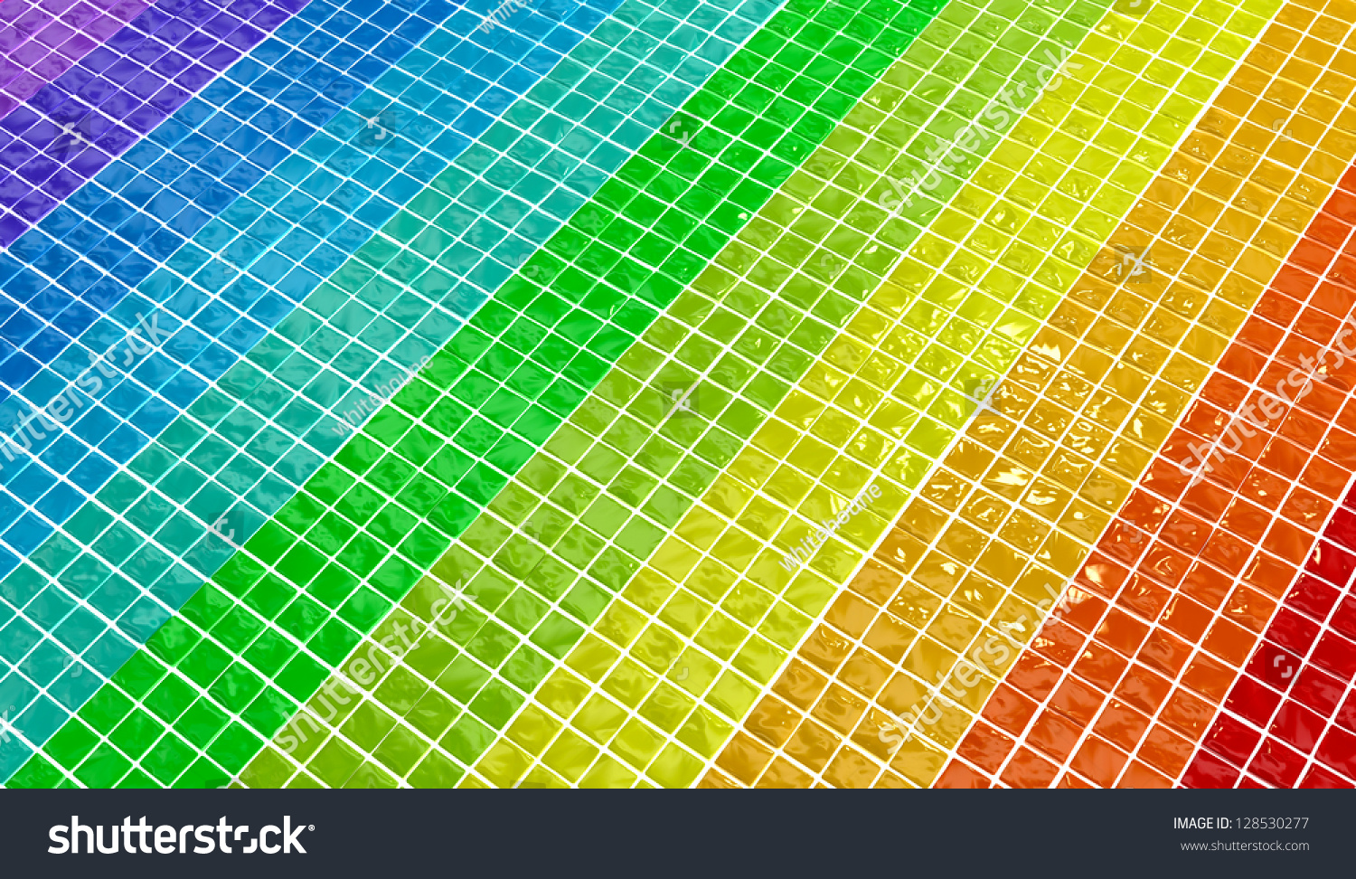 Wall Texture Made Glossy Colored Plates Stock Illustration 128530277 ...