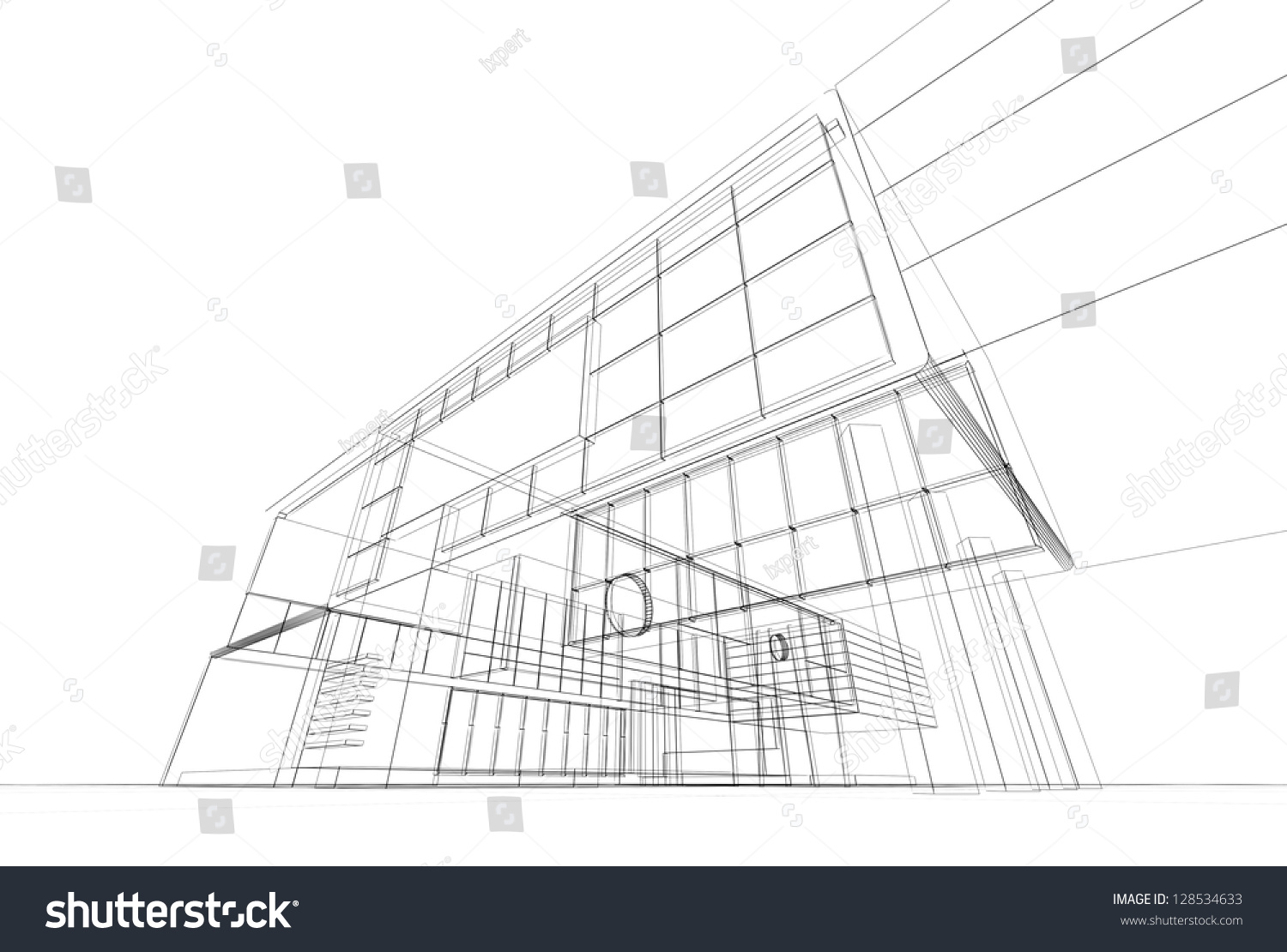Architecture blueprint on white background stock illustration architecture blueprint on white background stock illustration 128534633 shutterstock malvernweather Image collections