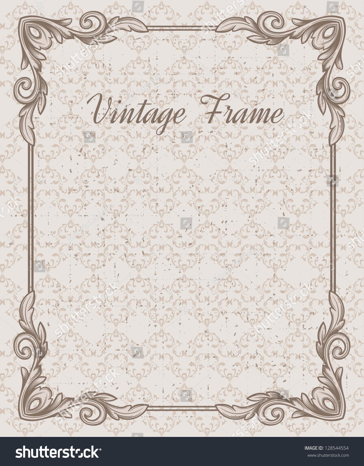 Certificate Template Vintage Background Design Elements Stock Vector