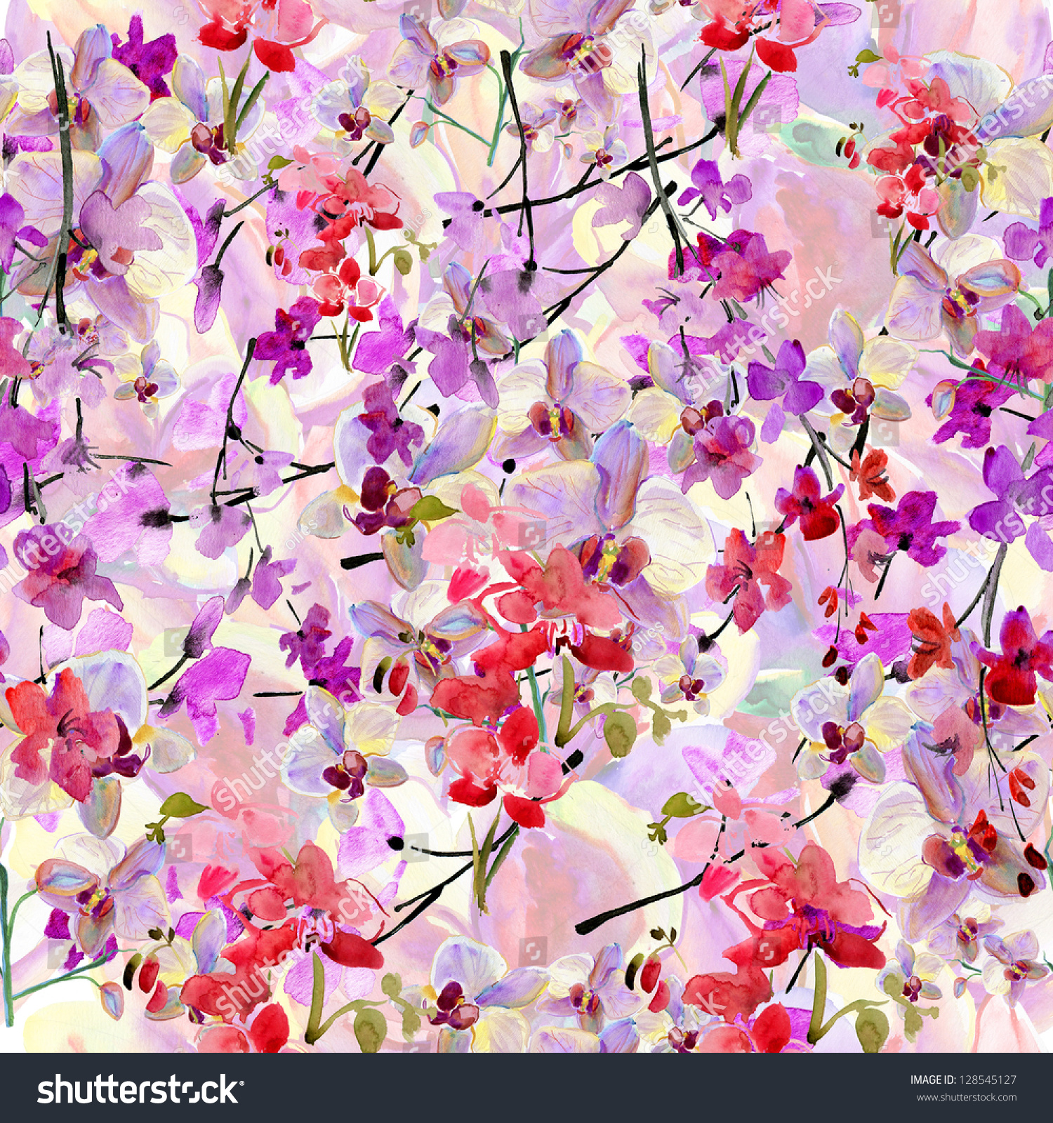 Abstract Watercolor Desktop Wallpaper