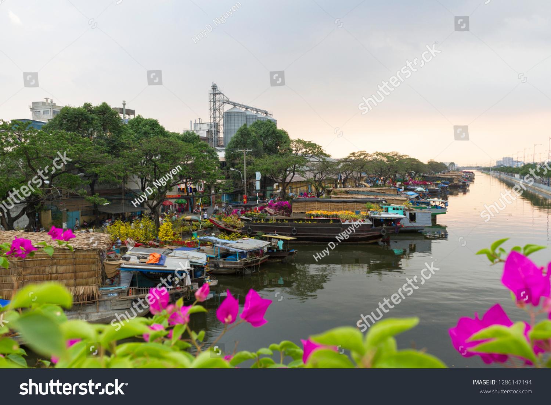 Binh Dong Floating Flower Market.Ho Chi Minh City Vietnam February Stock Photo Edit Now 1286147194