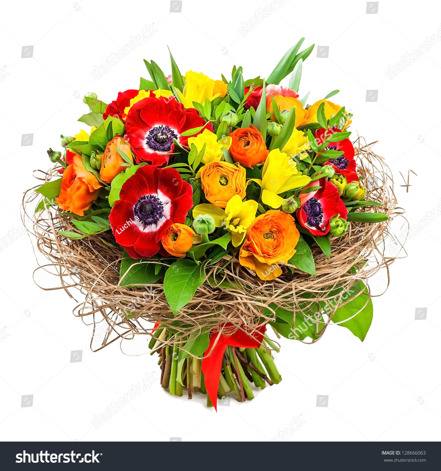 Bouquet flowers vase stock photo 128666063 shutterstock for Images of bouquets of roses