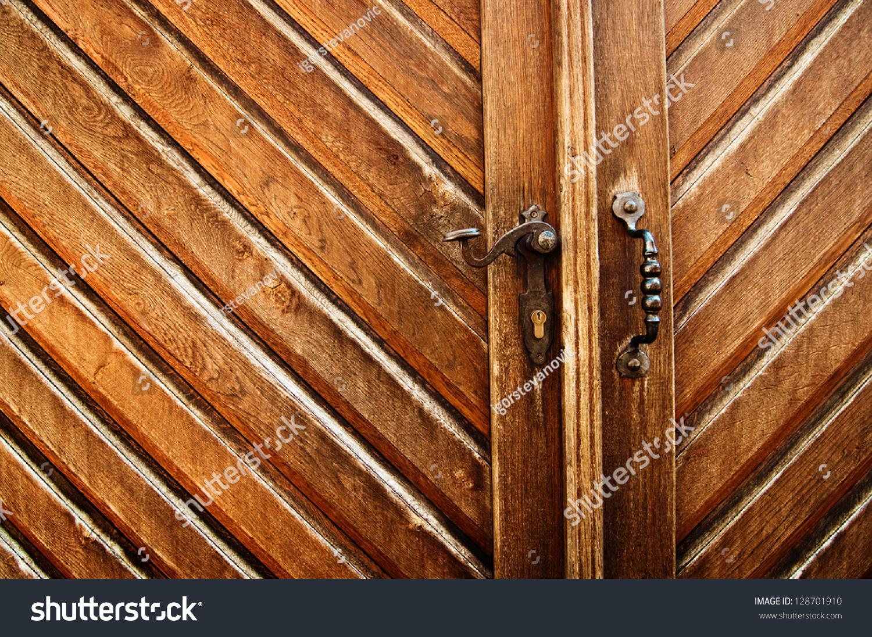 1096 #B24C0E Beautiful Wooden Door Entrance To The House Backyard Stock Photo  image Beautiful Wooden Doors 46731500