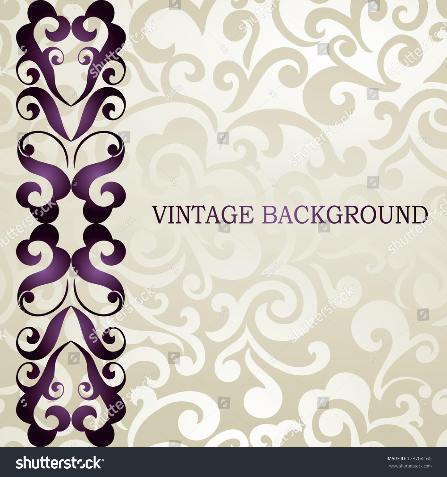 Elegant Wedding Business Visiting Invitation Card Stock Vector 128704160