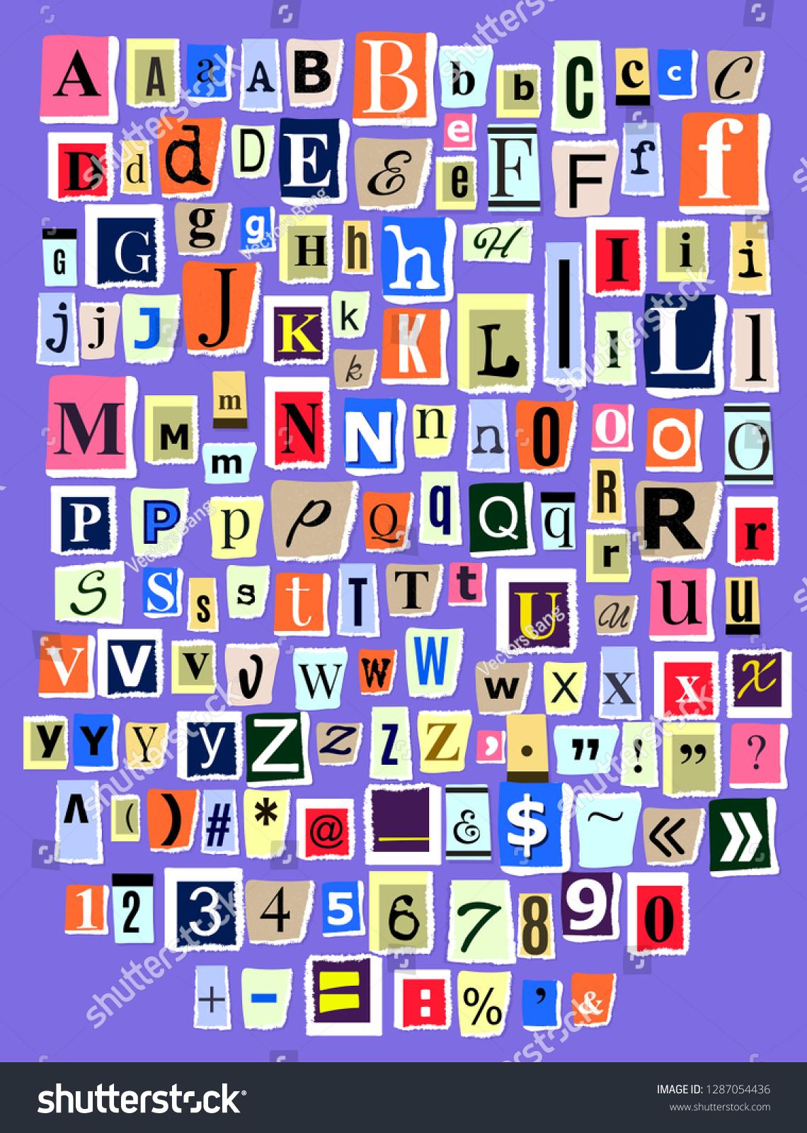 アルファベットのコラージュABCベクターのアルファベット順のフォント ...
