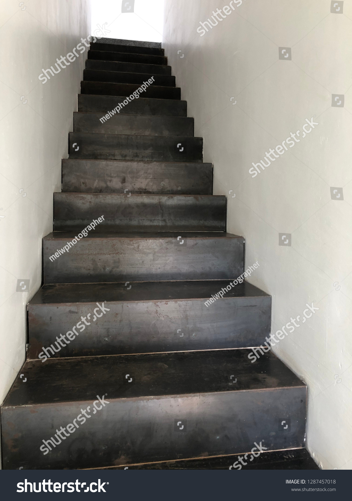 iron staircase of modern #1287457018