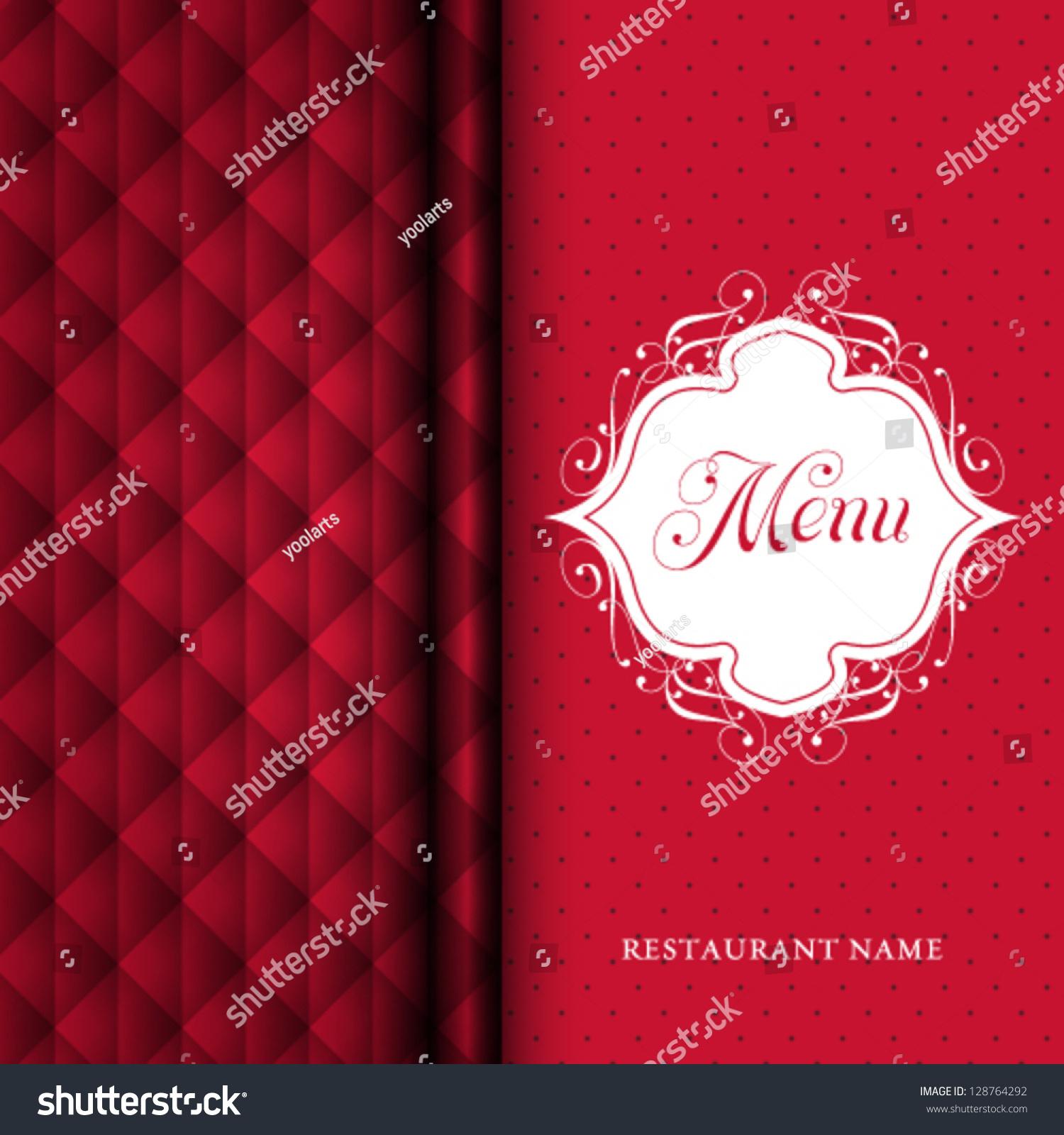 vector restaurant menu cover design stock vector 128764292