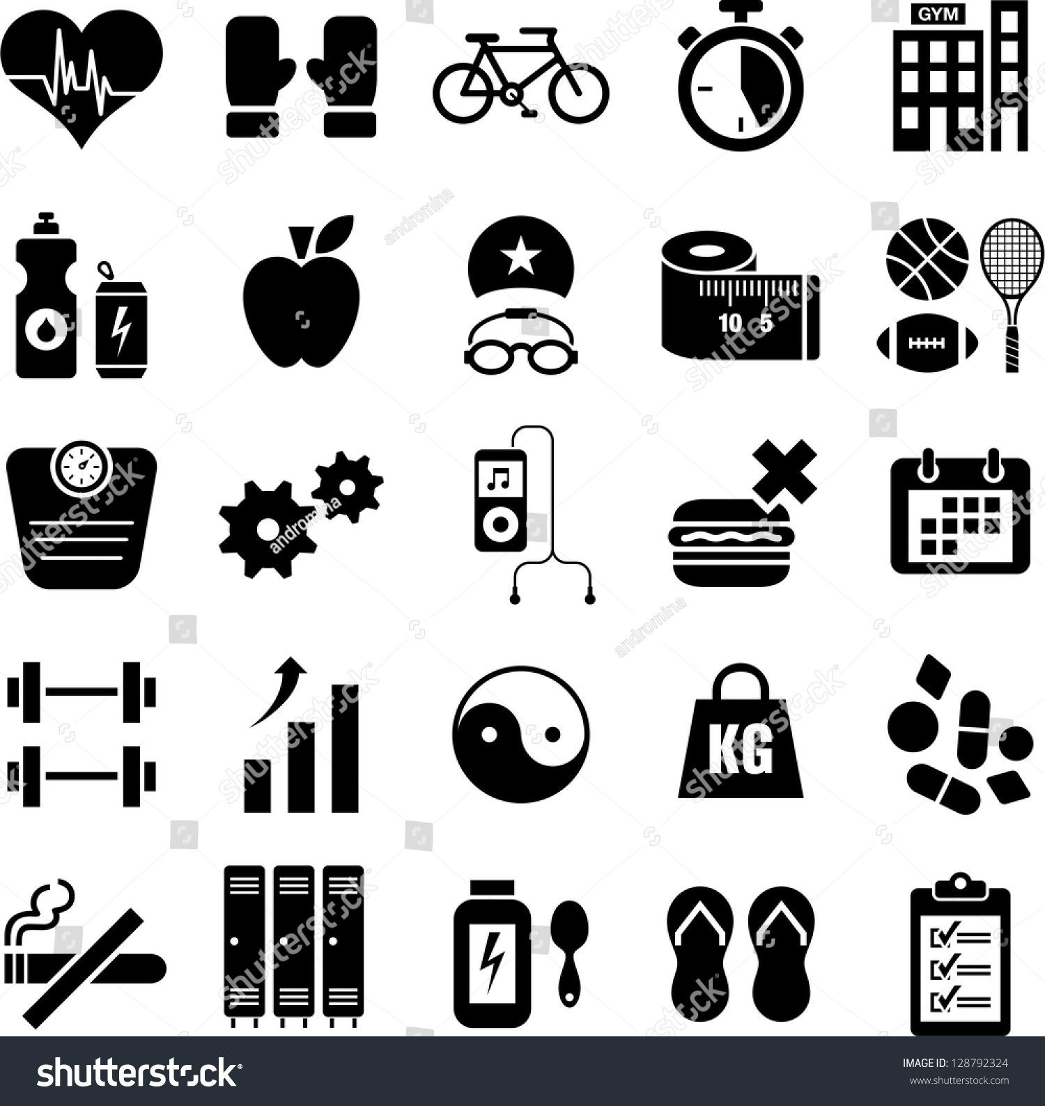 Wellness icon  Health Wellness Icons Stock Vector 128792324 - Shutterstock