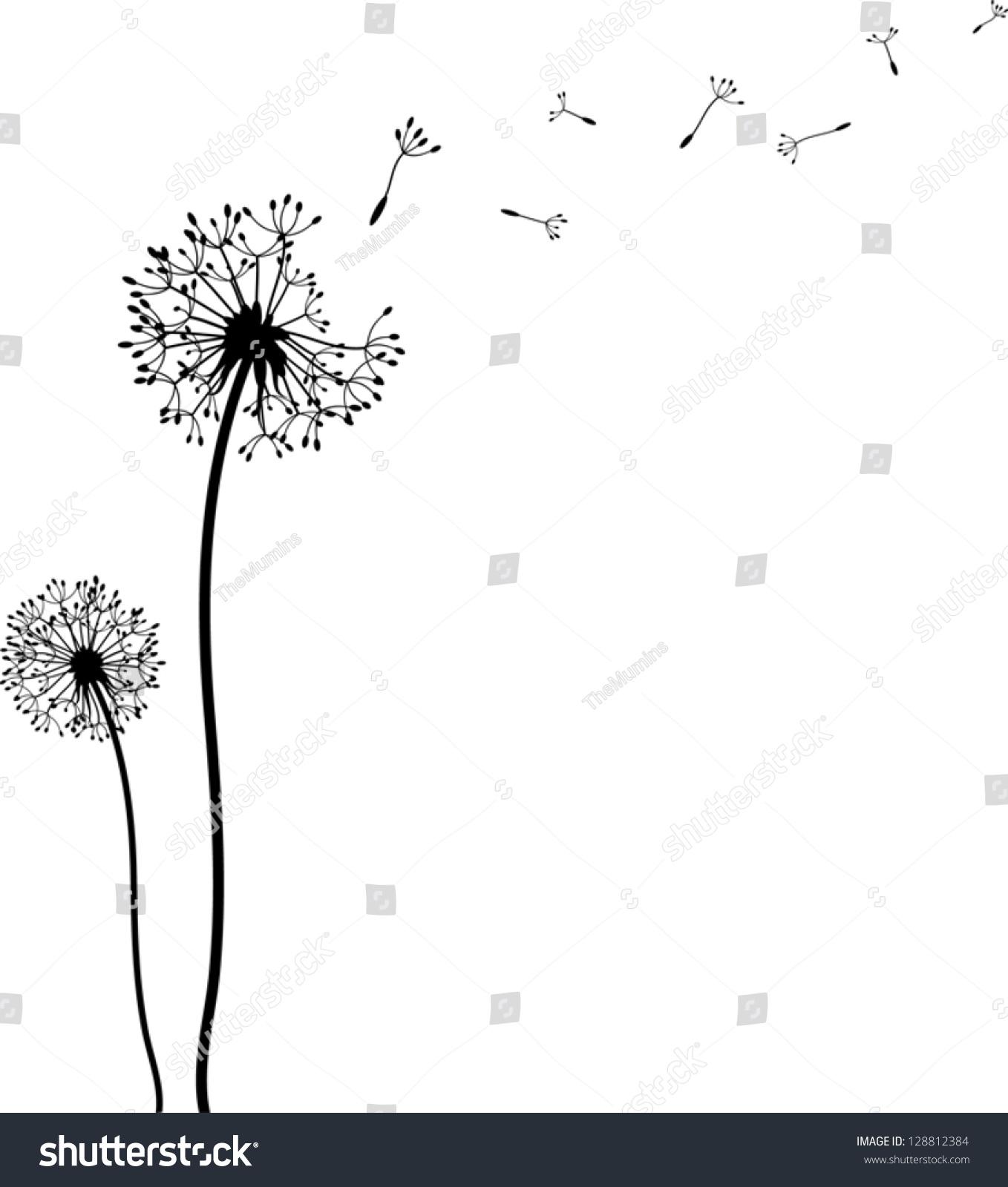 Blowing dandelion clip art - photo#11