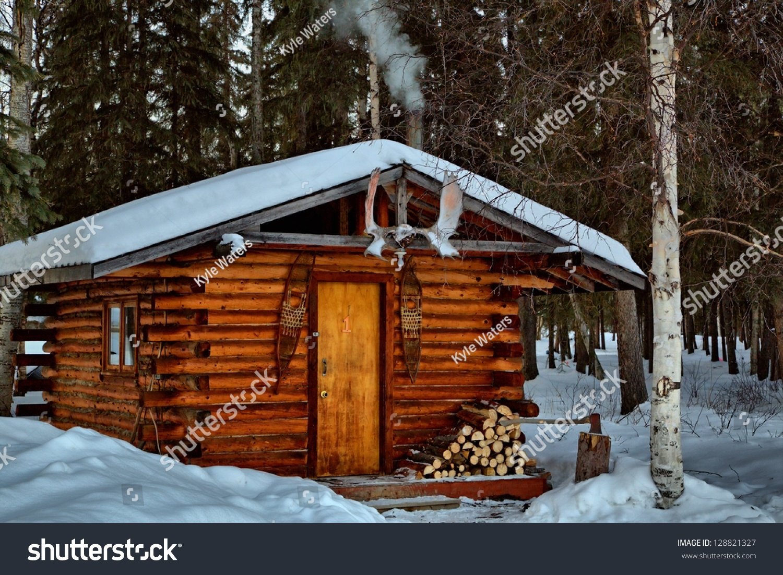 A Remote Log Cabin During Winter In Alaska 39 S Interior