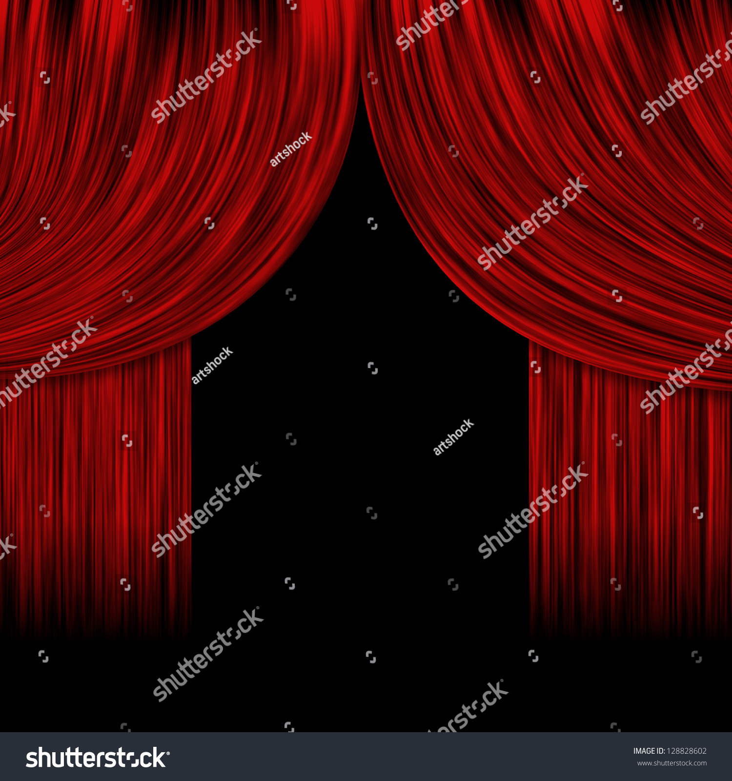 Open theater drapes or stage curtains royalty free stock image image - Illustration Of Open Theater Drapes Or Stage Curtains With A Black Background