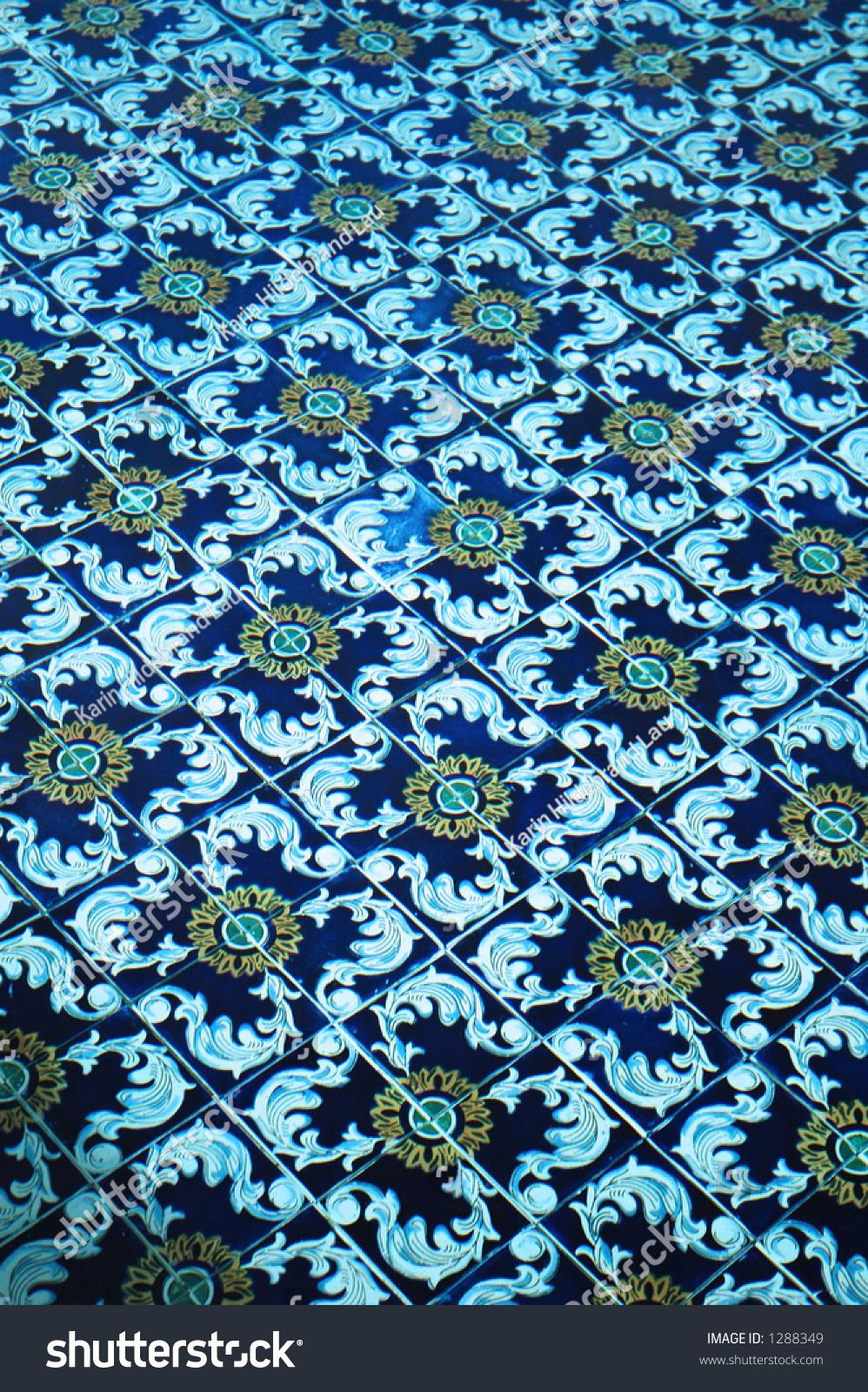 Spanish Tile Underwater Swimming Pool Stock Photo Edit Now 1288349