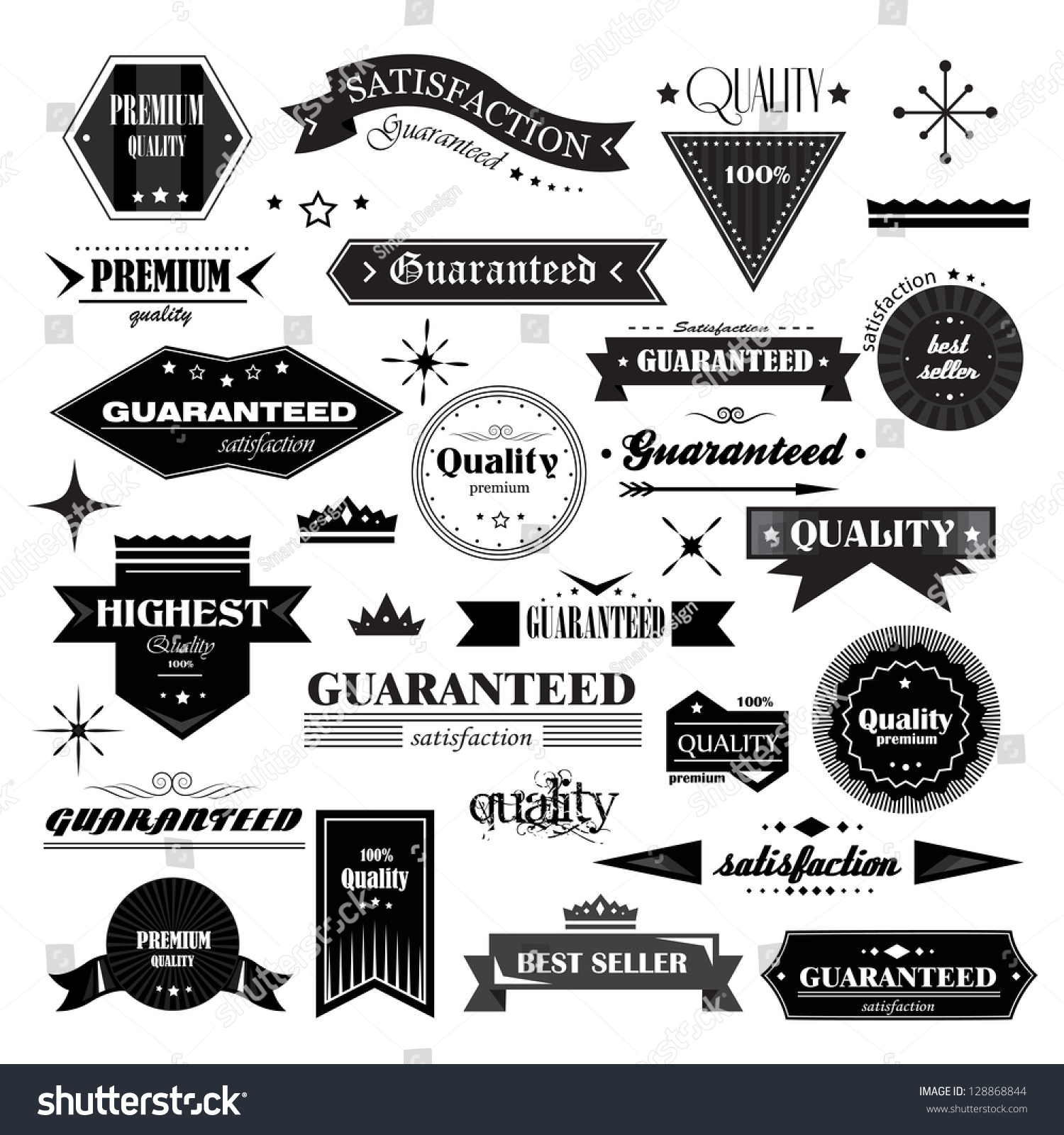 Retro Design Elements Labels Retro Style Stock Vector ...