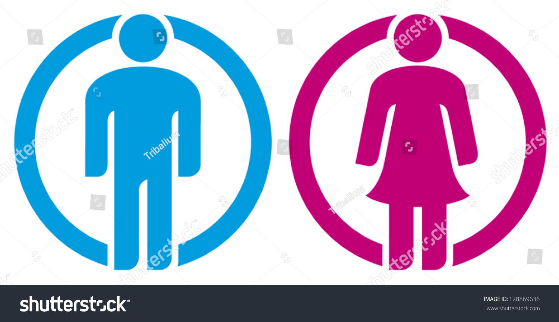 Signo De Baño Hombre Y Mujer (Siluetas De Hombre Y Mujer, Chico, Chica, -> Banheiro Feminino Vetor Free