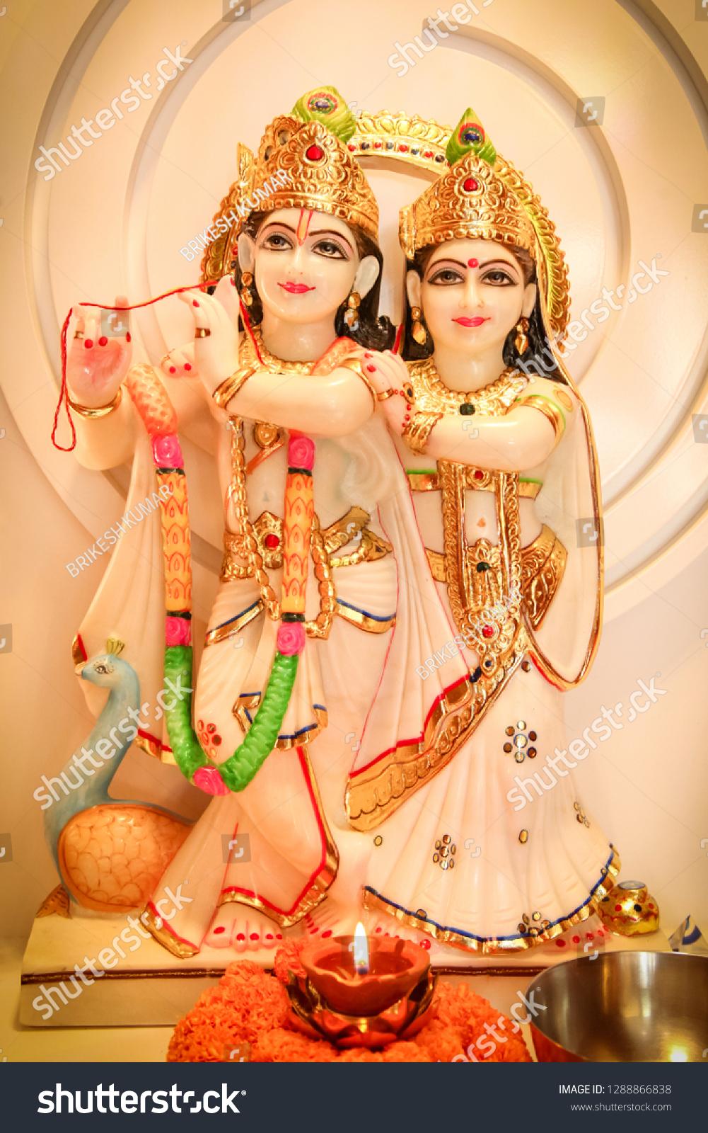 Radha Krishna Hd Wallpaper Stock Photo Edit Now 1288866838