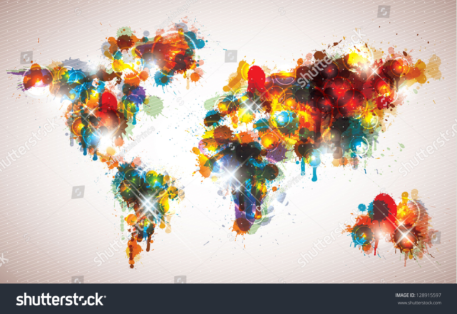 Painterly world map done cool contemporary stock vector 2018 painterly world map done in a cool contemporary color scheme gumiabroncs Gallery